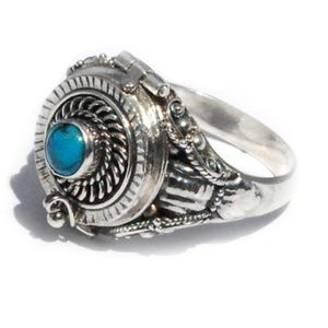 Jewelry - 925 Poison Ring with Stabilized Turquoise